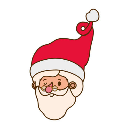 head santa claus avatar character vector illustration deisgn