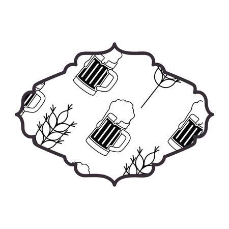 eleganter Rahmen isoliert Symbol Vektor Illustration Design Vektorgrafik