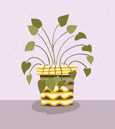 beautiful houseplant in pot vector illustration design Standard-Bild - 122967154