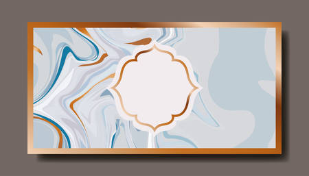rectangle golden with victorian frame marble texture vector illustration design Zdjęcie Seryjne - 122967211