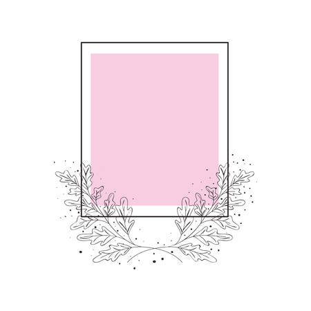 frame with flowers isolated icon vector illustration desing