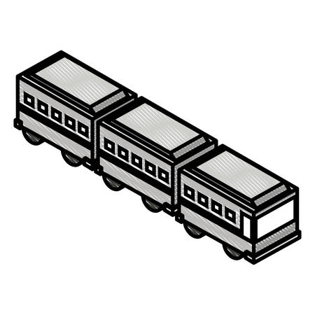 articulated bus transport isometric icon vector illustration design Ilustração