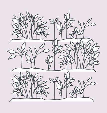 marine plants ecosystem scene vector illustration design Stock Vector - 122928594