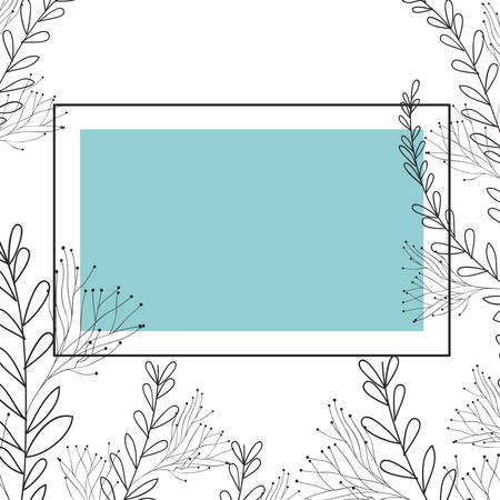 frame with flowers isolated icon vector illustration desing Zdjęcie Seryjne - 122928704