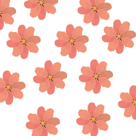 pattern of flowers isolated icon vector illustration design
