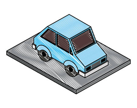 sedan car isometric icon vector illustration design