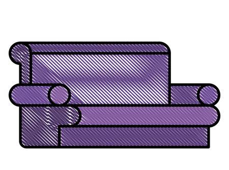 confortable sofa isolated icon vector illustration design Ilustrace