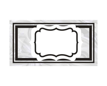 elegant frame victorian isolated icon vector illustration desing