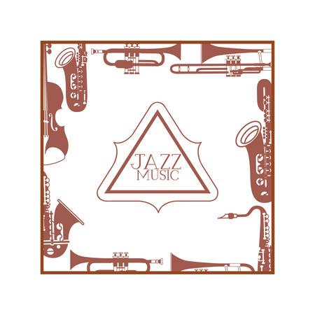 jazz music label isolated icon vector illustration design