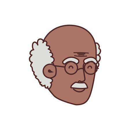 head of grandfather avatar character vector illustration design 일러스트