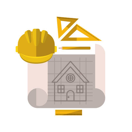 construction plan isolated icon vector illustration design