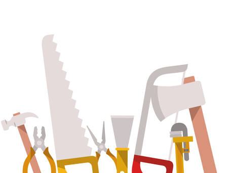 construction tools pattern isolated icon vector illustration design