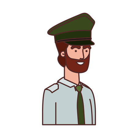 man soldier of war avatar character vector illustration design