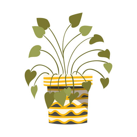 houseplant with potted isolated icon vector illustration design Ilustrace