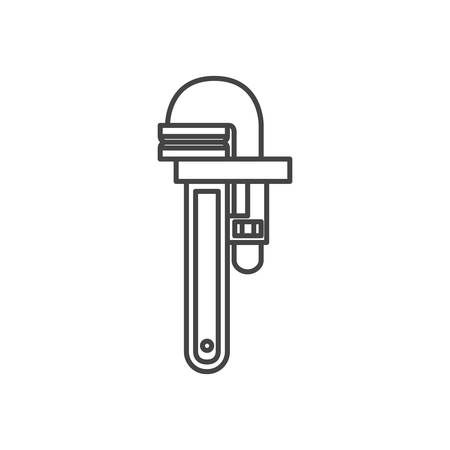 plumber key isolated icon vector illustration design