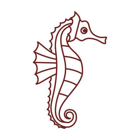 zeepaardje patroon geïsoleerd pictogram vector illustratie ontwerp