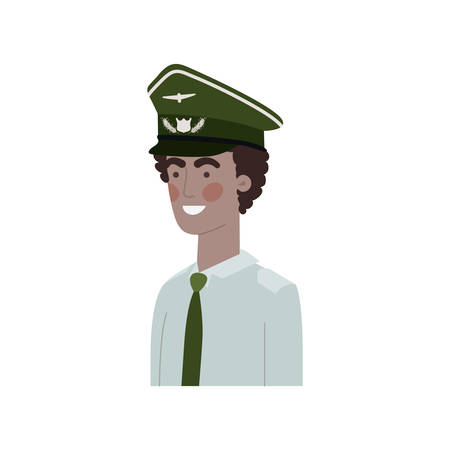man pilot avatar character vector illustration design 向量圖像