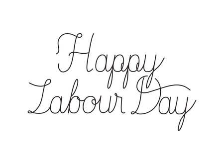 happy labor day label isolated icon vector illustration design