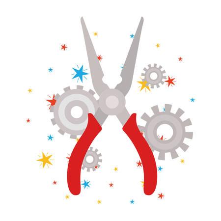 plier tool isolated icon vector illustration design Ilustração