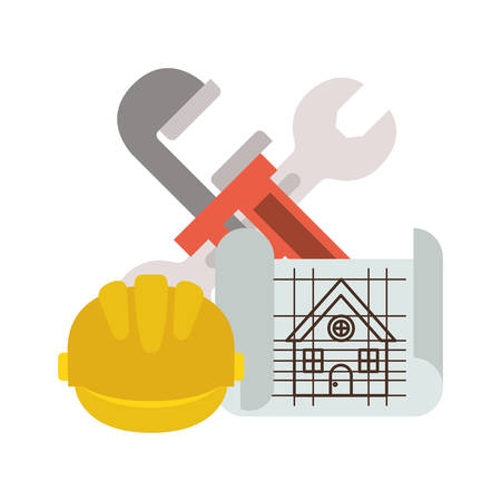construction plan isolated icon vector illustration design 写真素材 - 122852505
