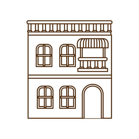 house with front view isolated icon vector illustration design