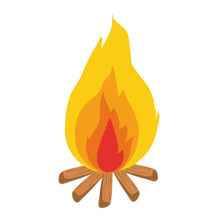 fire flame isolated icon vector illustration design Stock Vector - 122785139