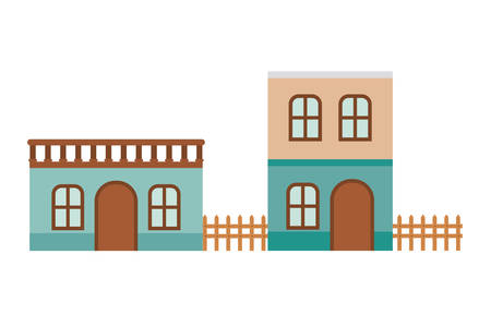 neighborhood houses isolated icon vector illustration design