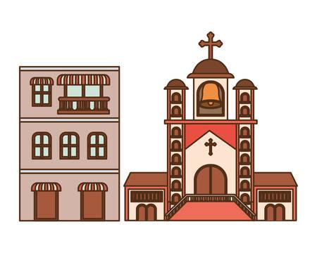 neighborhood houses isolated icon vector illustration design