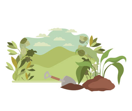 tree to plant in landscape isolated icon vector illustration design