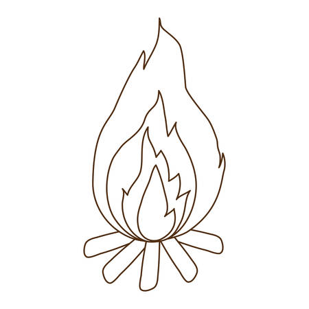fire flame isolated icon vector illustration design Stock Vector - 122786285