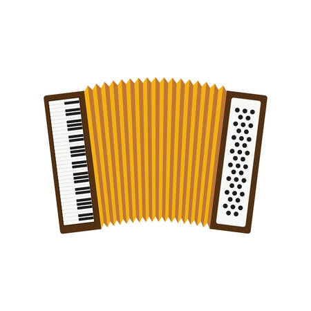 cute accordion isolated icon vector illustration design