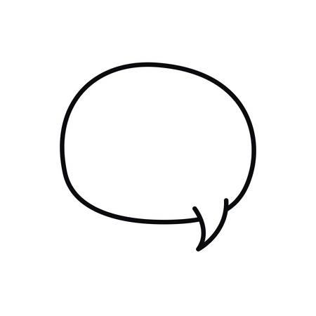 speech bubble in comic isolated icon vector illustration design  イラスト・ベクター素材