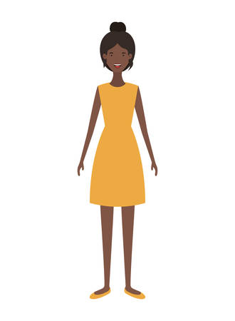 young woman standing avatar character vector illustration design Illustration