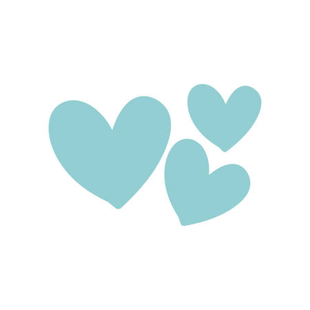 cute hearts isolated icon vector illustration desing