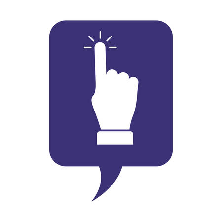 speech bubble with hand index vector illustration design 向量圖像