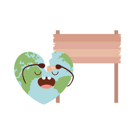 planet earth kawaii isolated icon vector illustration design Imagens - 122668091
