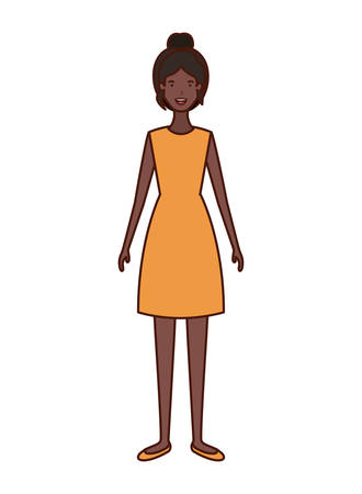 young woman avatar character vector illustration design Ilustrace