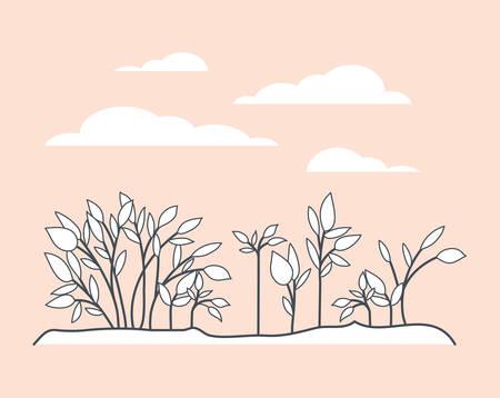 marine plants ecosystem scene vector illustration design Stock Vector - 122670690