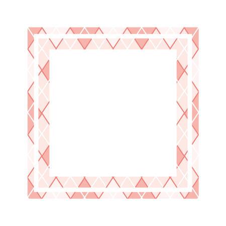 textile pattern frame isolated icon vector illustration design Ilustração