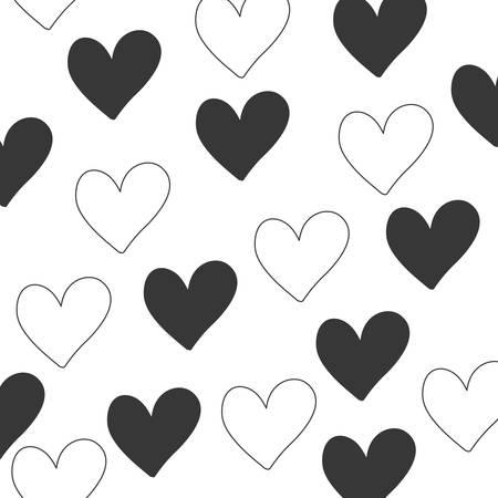 hearts pattern background isolated icon vector illustration desing Stock Illustratie