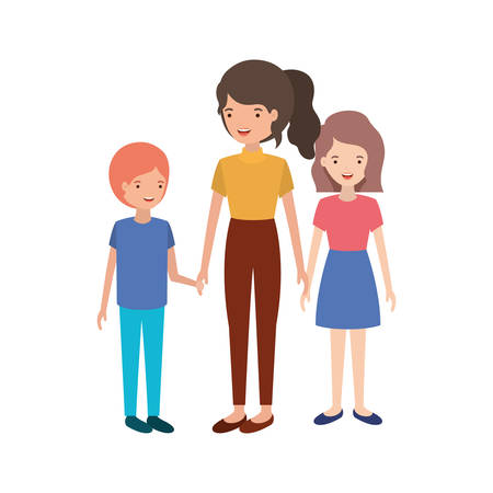 group of people avatar character vector illustration design 矢量图像