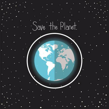 world planet earth day celebration vector illustration design