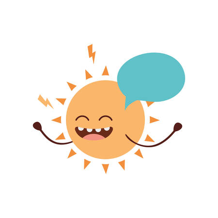 radiant sun kawaii isolated icon vector illustration design
