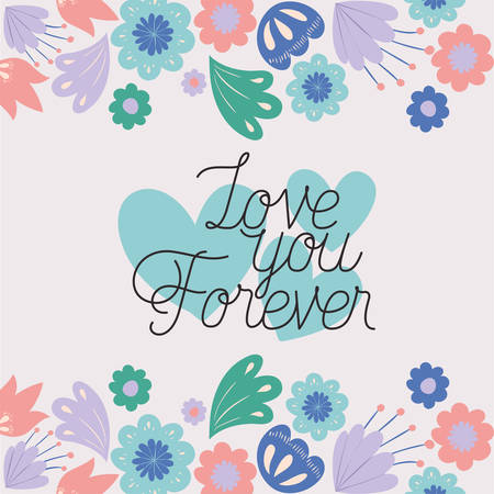 love card with herbs drawn frame vector illustration design Ilustracja