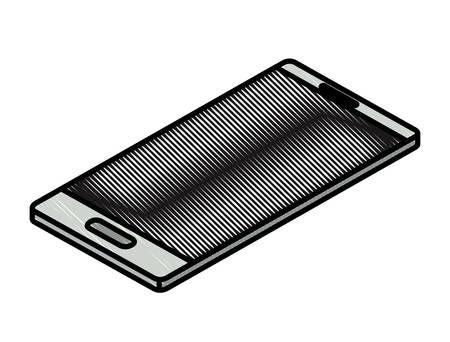 smartphone device isometric icon vector illustration design Ilustração