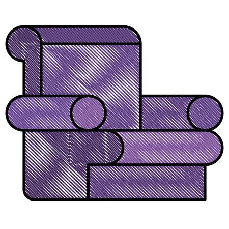 confortable sofa isolated icon vector illustration design  イラスト・ベクター素材