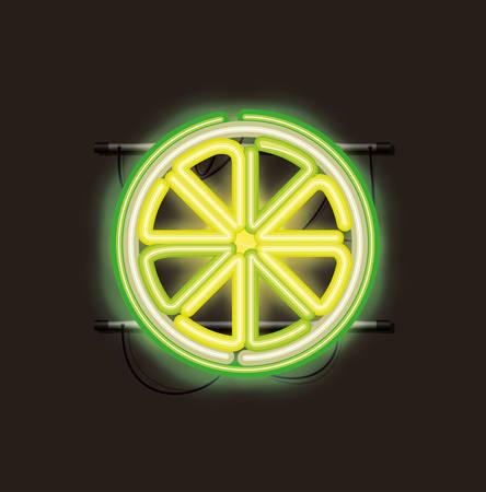 Citron agrumes néons vector illustration design