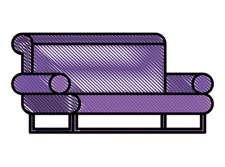 confortable sofa isolated icon vector illustration design Ilustrace