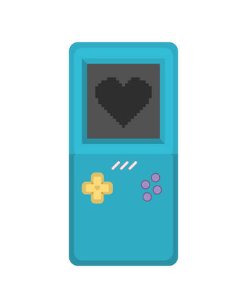 video game console handle ninetys icon vector illustration design