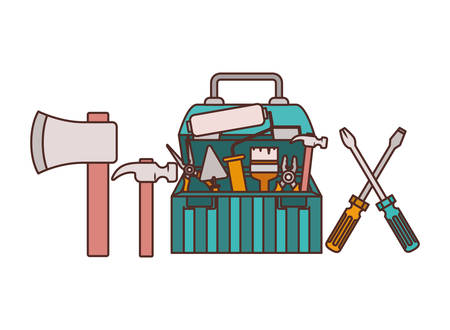 construction tool box isolated icon vector illustration design